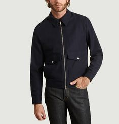 Zip Press Stud Pocket Jacket