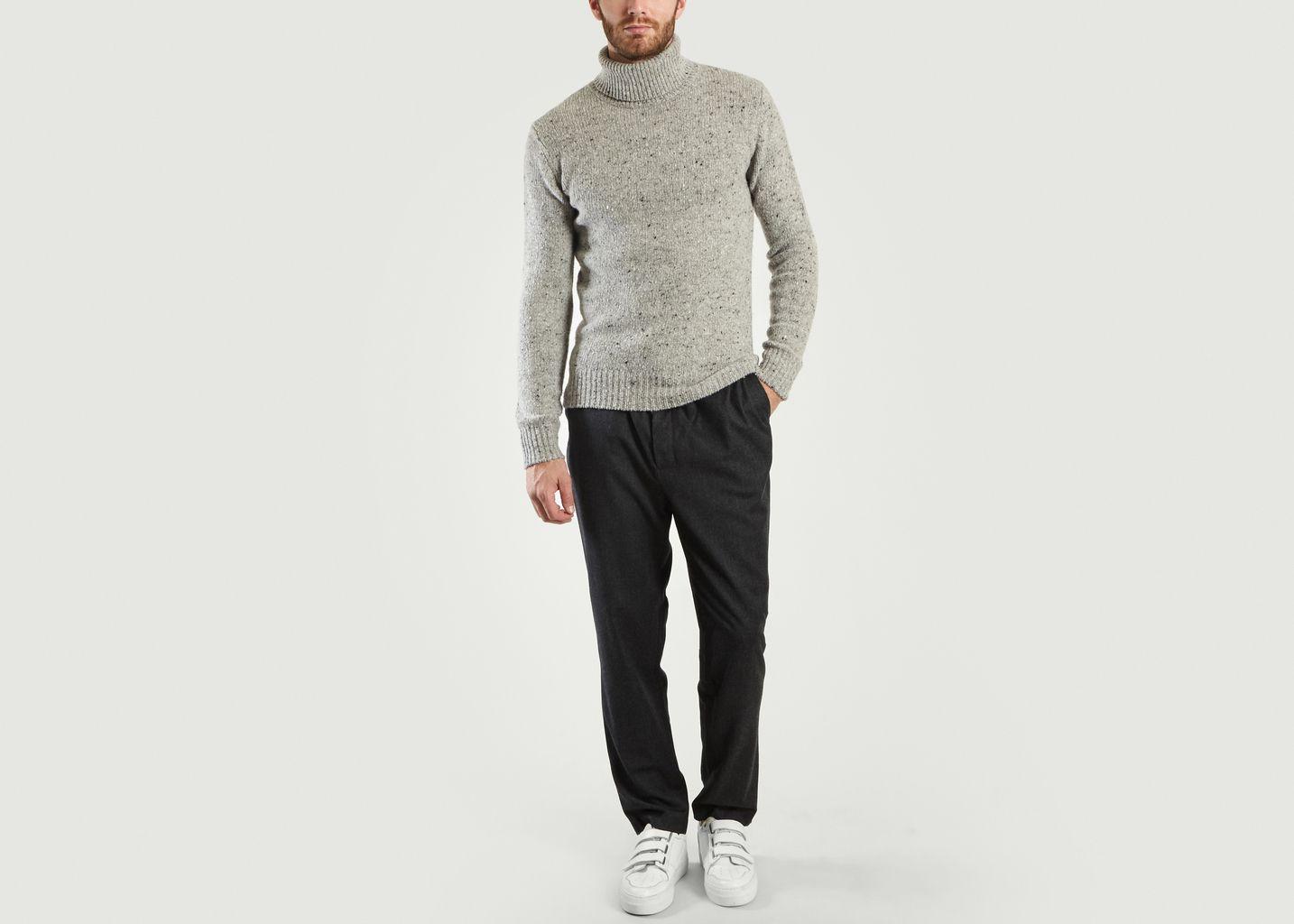 Pantalon Droit Taille Élastiquée - AMI Alexandre Mattiussi