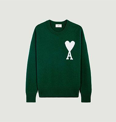 Sweater AMI DE COEUR in felted merino wool