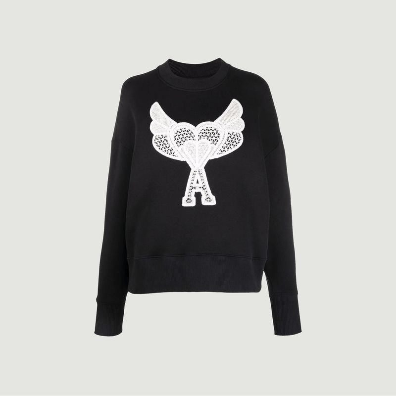 Sweatshirt Ami De Coeur Dentelle - AMI Paris