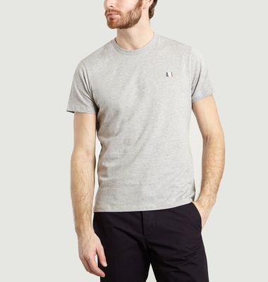 T-Shirt Uni Brodé