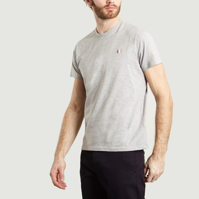 T-Shirt Uni Brodé - AMI Paris