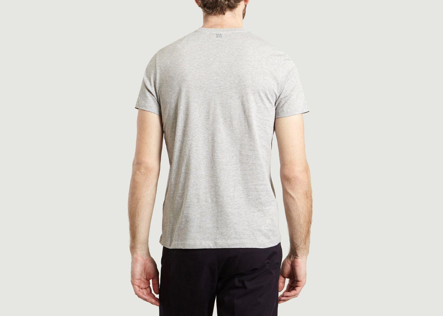 T-Shirt Uni Brodé - AMI Alexandre Mattiussi