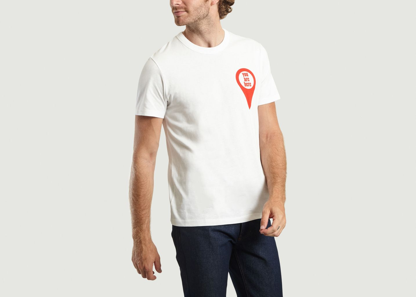 T-Shirt Imprimé You Are Here  - AMI Alexandre Mattiussi