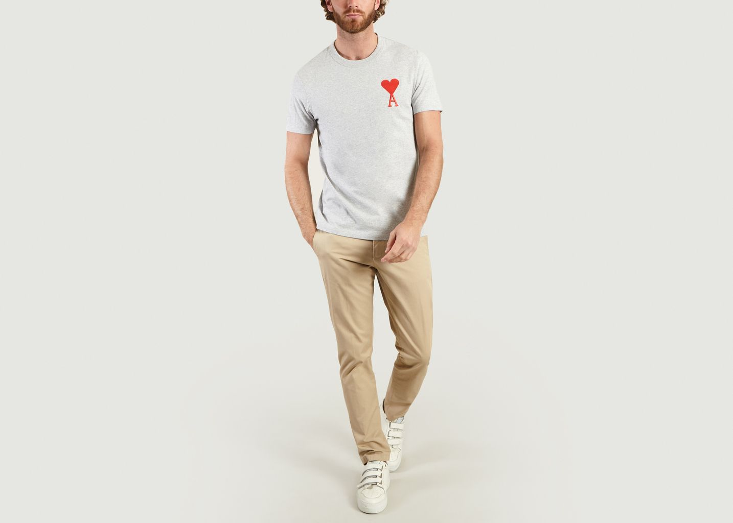 T-Shirt Broderie Big Ami de Cœur  - AMI Alexandre Mattiussi