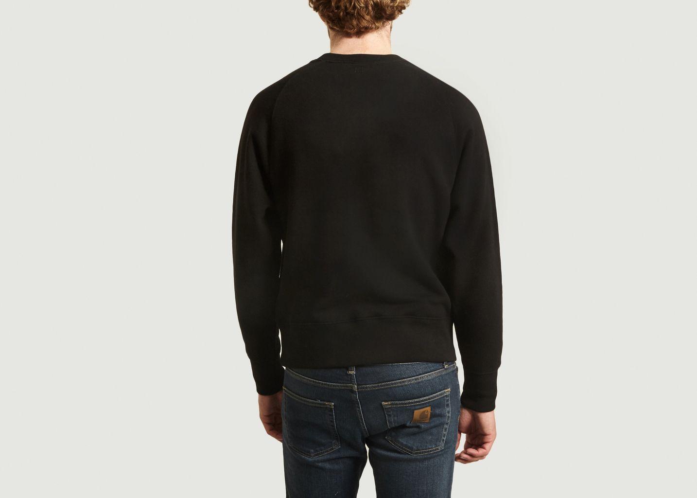 Sweatshirt Ami de Coeur point chaînette - AMI Paris