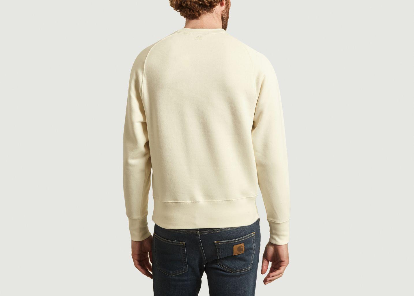 Sweatshirt Ami de Coeur point chaînette - AMI Alexandre Mattiussi