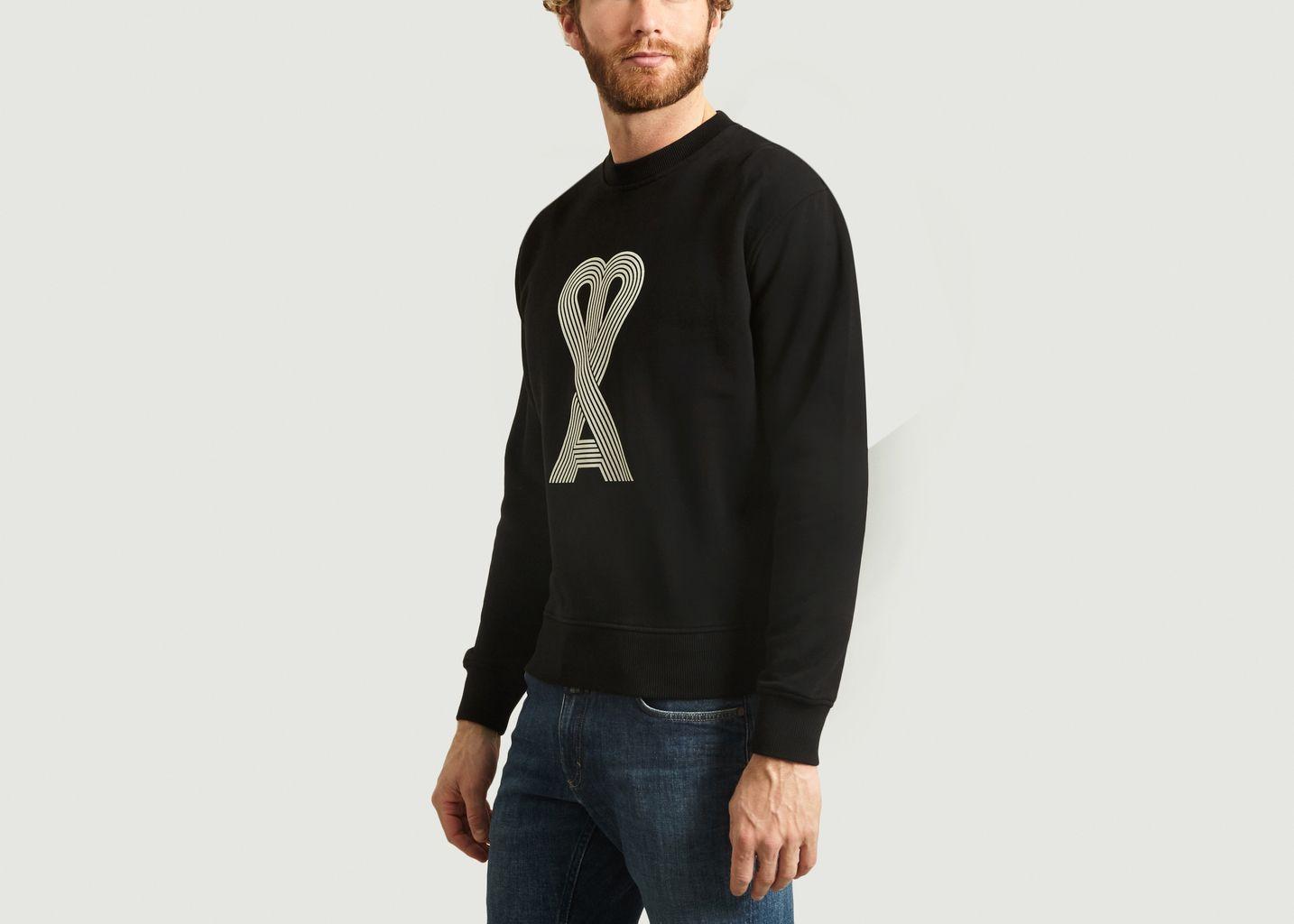 Sweatshirt ami de coeur linéaire  - AMI Alexandre Mattiussi