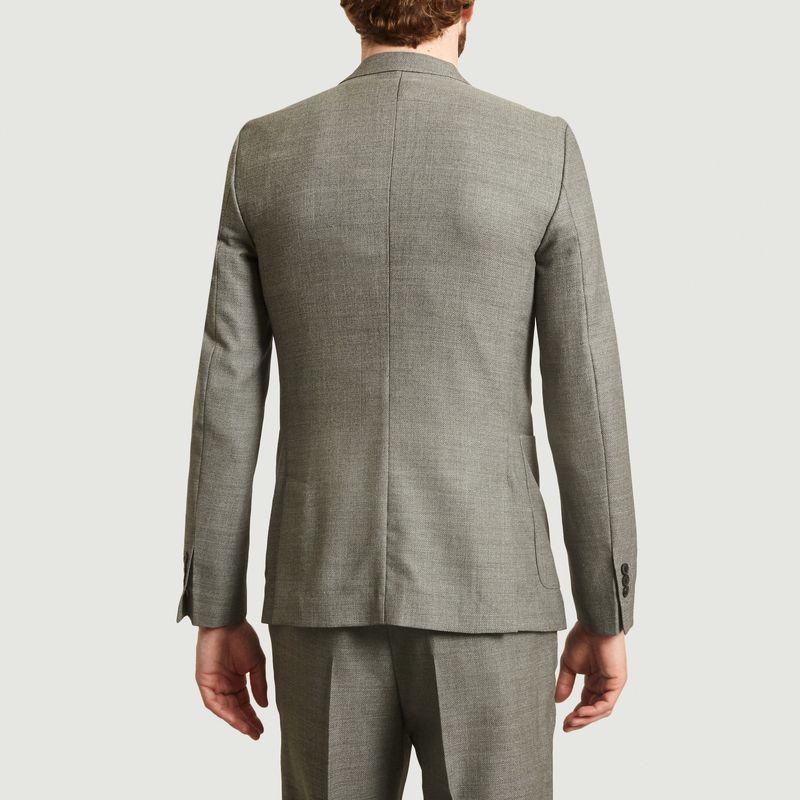 Veste deux boutons poches plaquées en laine natté - AMI Paris