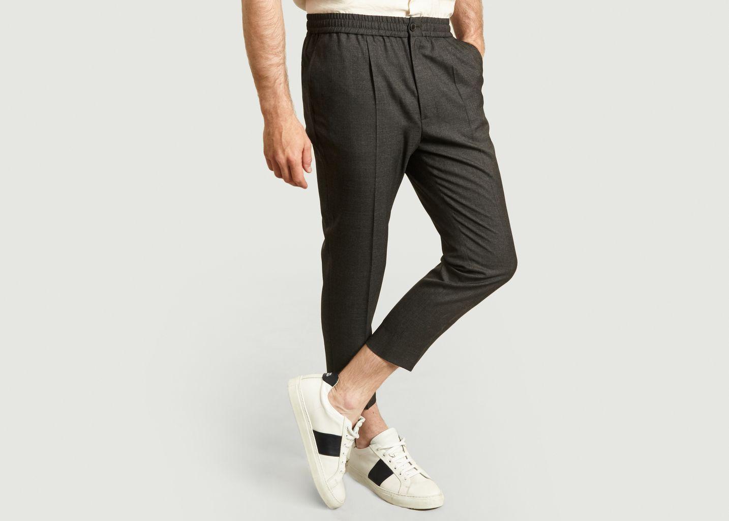 Pantalon droit taille élastique - AMI Paris