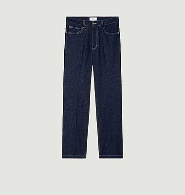 Pantalon droit en denim japonais