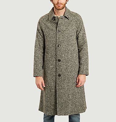 Heathered straight cut coat