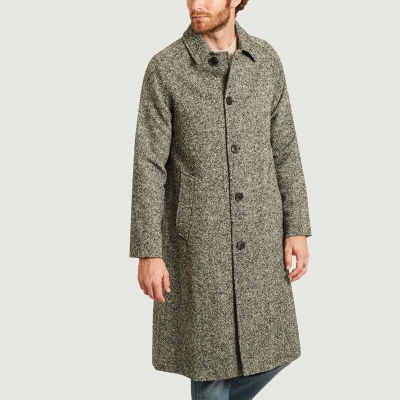 Manteau chiné coupe droite - AMI Paris