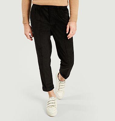 Pantalon Carotte à Plis