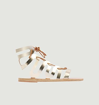 Clelia leather lace-up sandals