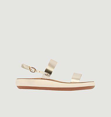 Sandales compensées en cuir Clio Comfort