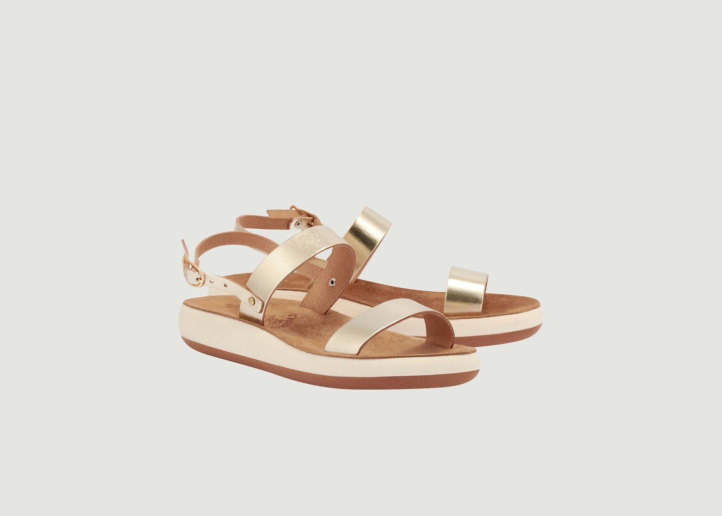 Sandales compensées en cuir Clio Comfort - Ancient Greek Sandals