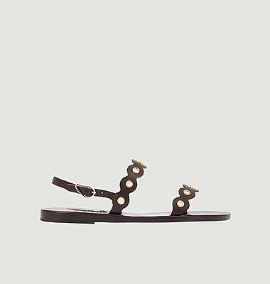 Clio Mirrors leather sandals