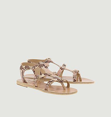 Sandales Grace Kelly effet python