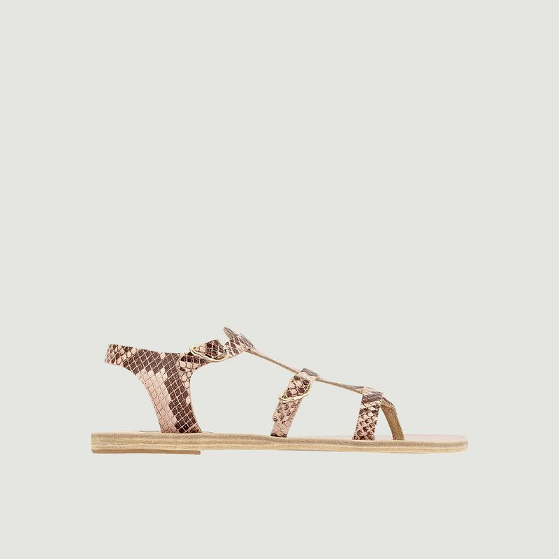 Sandales Grace Kelly effet python - Ancient Greek Sandals