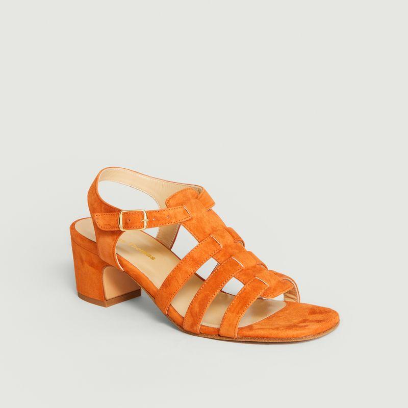 Sandale Goudes Velours Ola - Anne Thomas Chaussures