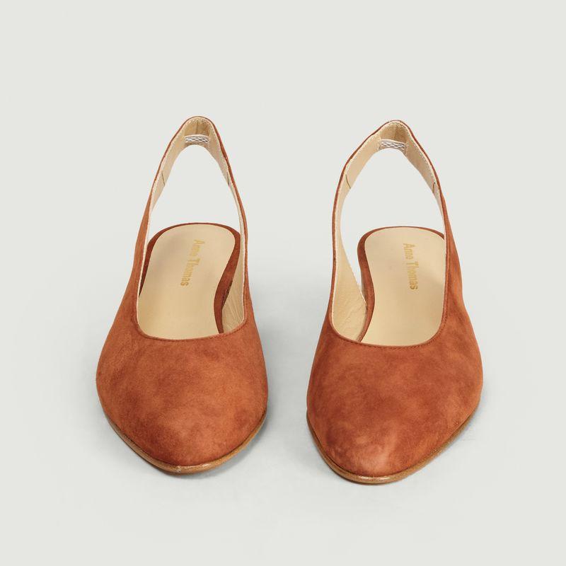 Sandales slingback en cuir velours Michele - Anne Thomas Chaussures
