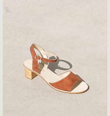 Sandales en cuir velours Emily