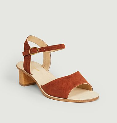 Emily suede leather sandals