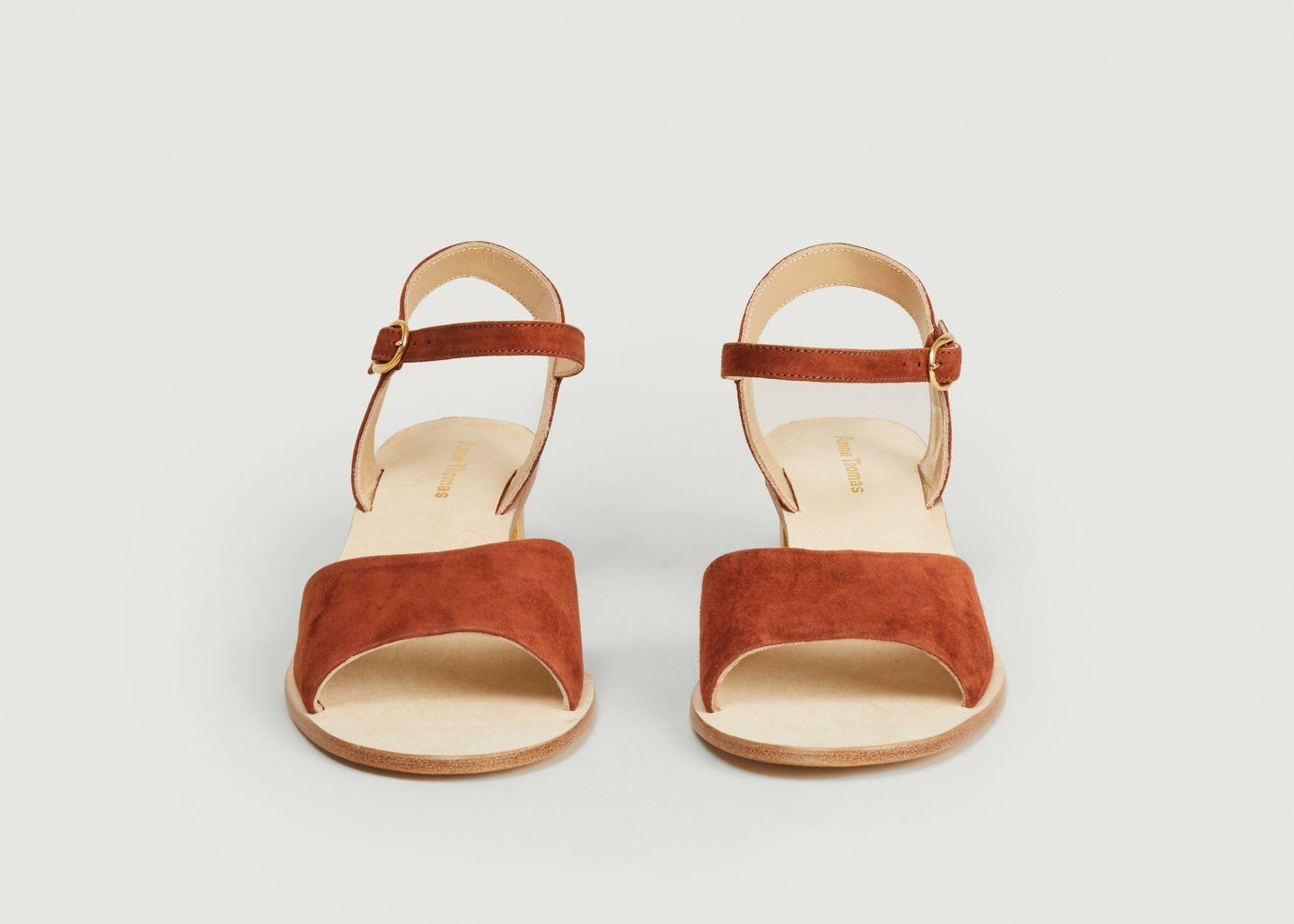 Sandales en cuir velours Emily - Anne Thomas Chaussures