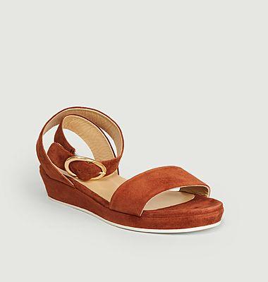 Romane suede leather sandals