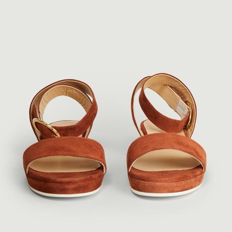 Sandales en cuir velours Romane - Anne Thomas Chaussures