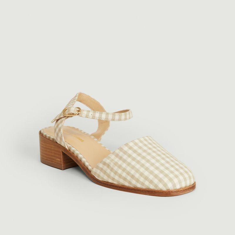 Sandales motif vichy Morris Buckle - Anne Thomas Chaussures