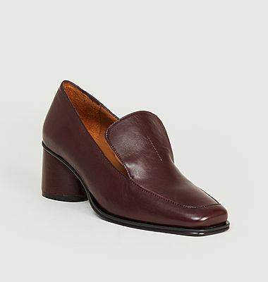 Simon nappa leather heeled loafers