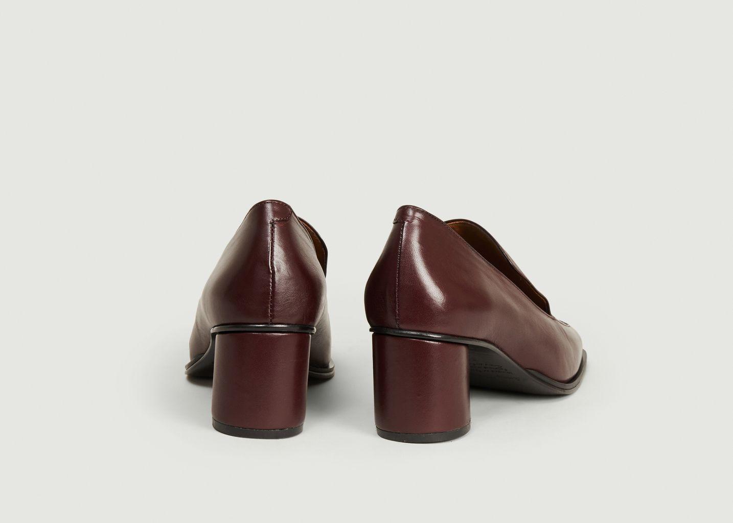 Mocassins en cuir nappa à talons Simon - Anne Thomas Chaussures