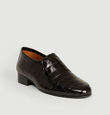 Léo croco effect leather loafers