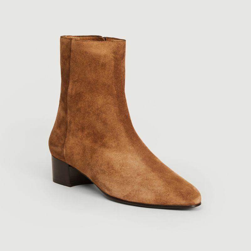 Boots en cuir suédé Michèle - Anne Thomas Chaussures