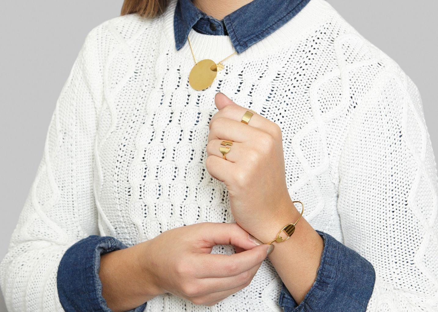Bracelet Jonc Diane - Anne Thomas Bijoux