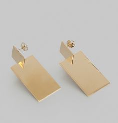 Boucles d'Oreilles 3D Assembly Rectangle