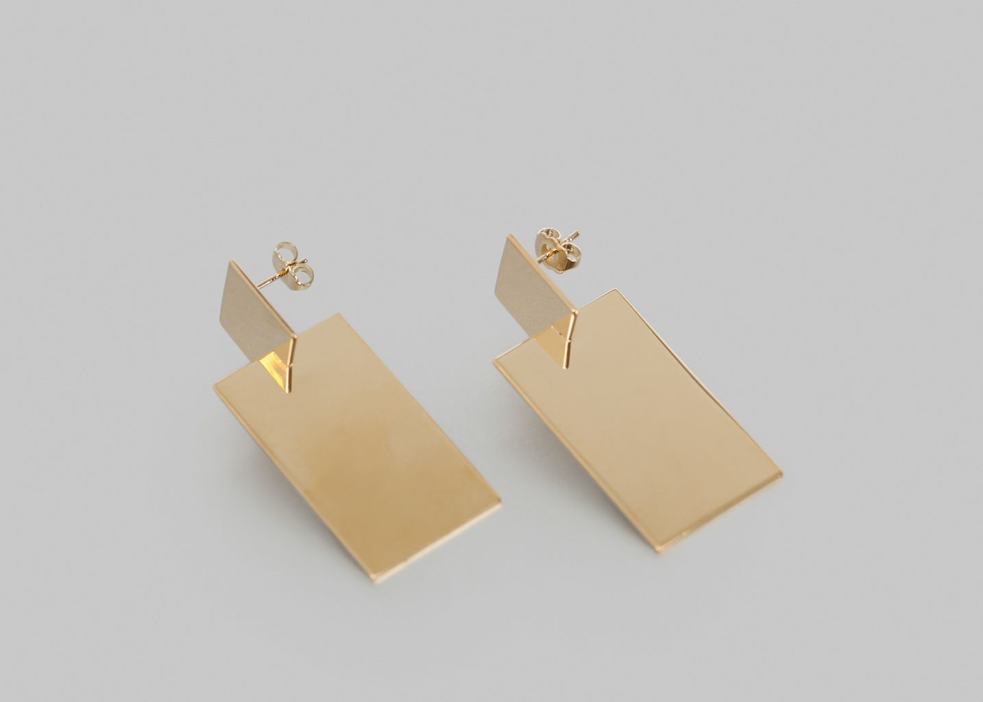 Boucles d'Oreilles 3D Assembly Rectangle - Anne Thomas Bijoux