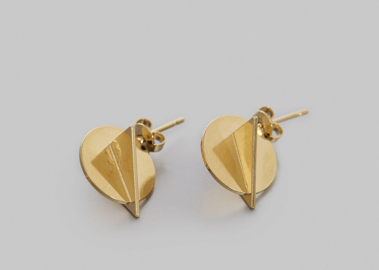 Boucles d'Oreilles Léo 3D - Anne Thomas Bijoux