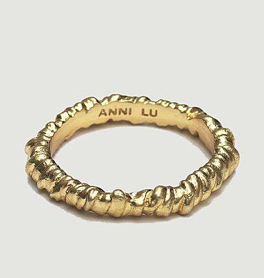 Bague anneau texturé