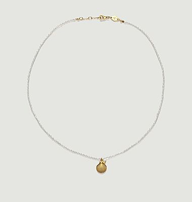 Collier coquillage et perles