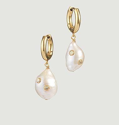 Boucles d'oreilles Gertrude en perles