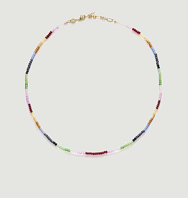 Collier arc-en-ciel en perles