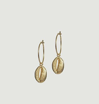 Boucles d'oreilles Cowry Shell