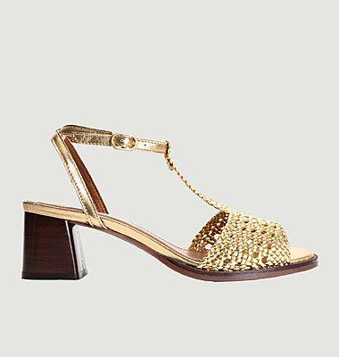 Sandales en cuir tressé Lizanne