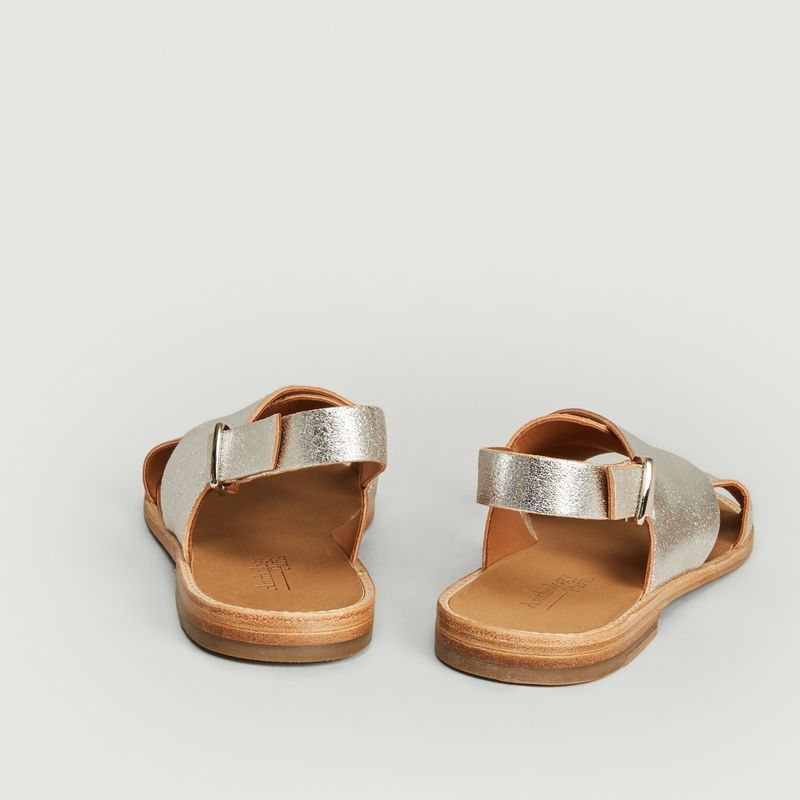 Sandales en cuir lamé Birmanie - Anthology Paris
