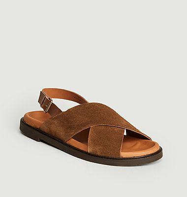 Sandales en cuir suédé Yoko
