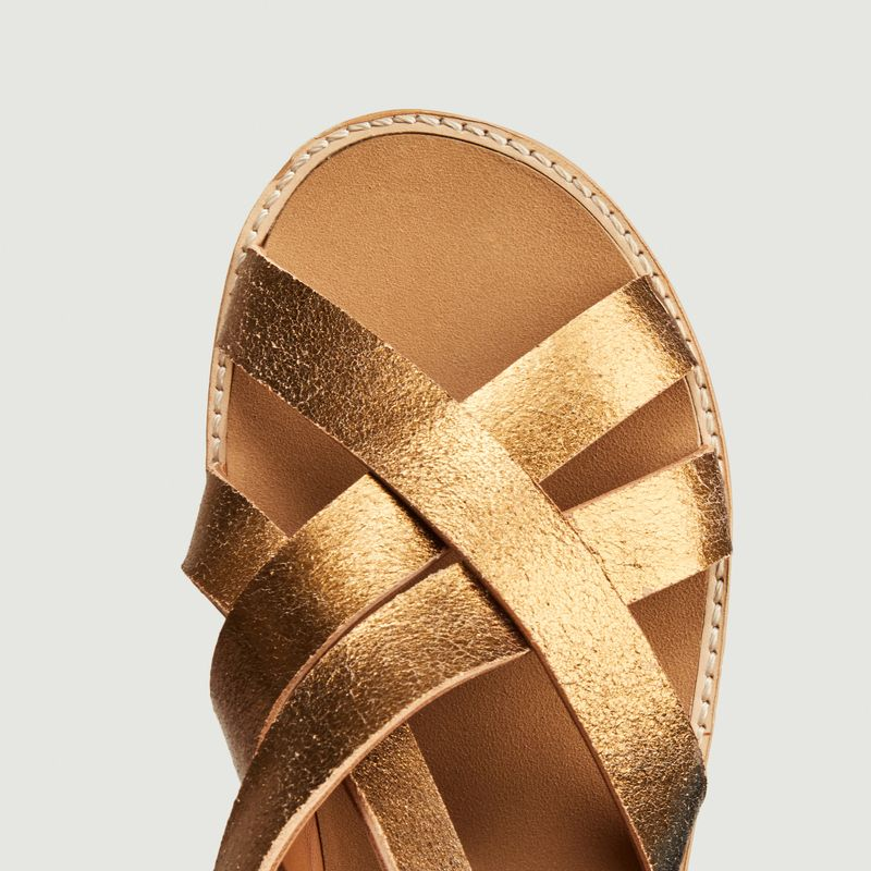 Bartolo laminated leather sandals - Anthology Paris