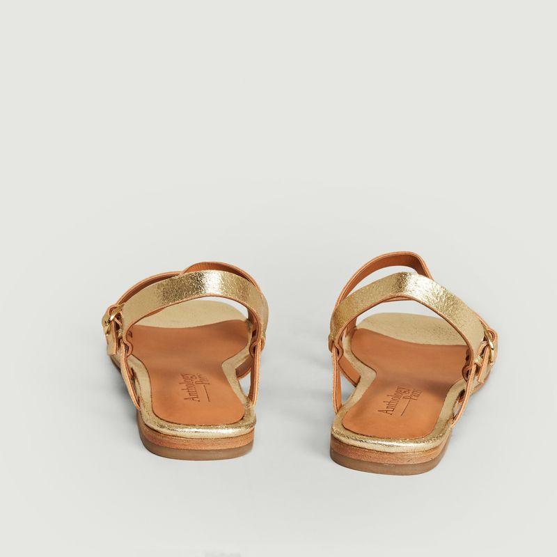 Sandales en cuir lamé Raha - Anthology Paris